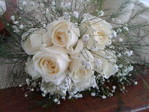 花束新娘白色 免版税库存图片