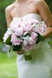 花束新娘花粉红色 图库摄影