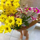 花束明亮的花照片向量 免版税库存图片