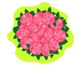 花束桃红色玫瑰 免版税图库摄影