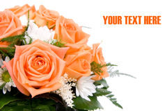 花束橙色婚礼 免版税图库摄影
