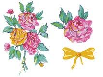 花束玫瑰弓图象 向量例证