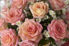 花束玫瑰色婚礼 库存图片