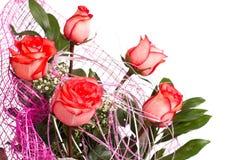 花束玫瑰色茶 库存图片