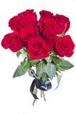 花束玫瑰顶视图 库存图片