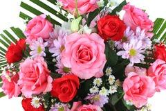 花束玫瑰顶视图 图库摄影