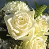 花束白色玫瑰 免版税库存照片