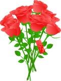 花束红色玫瑰向量 库存图片