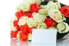 花束红色玫瑰黄色 图库摄影