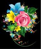 花束花园 免版税库存图片