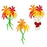 花束花 向量例证