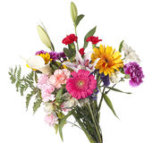 花束被剪切的典雅的花 免版税库存照片