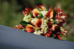 花束详细资料婚礼 图库摄影