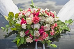 3花束重点前景婚礼 免版税库存照片