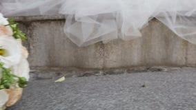 3花束重点前景婚礼 影视素材