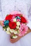 3花束重点前景婚礼 图库摄影