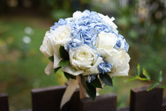 3花束重点前景婚礼 免版税图库摄影