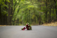 3花束重点前景婚礼 免版税库存图片