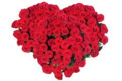 花束重点玫瑰形状 免版税库存图片