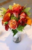 花束顶部热带视图婚礼 免版税图库摄影
