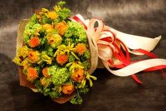 花束,五颜六色的春天花 免版税库存照片