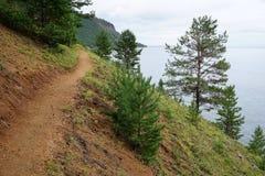 花格贝加尔湖足迹,西伯利亚,俄罗斯 库存照片