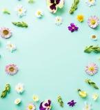 花框架例证春天向量 库存图片