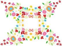 花框架春天白色 库存照片