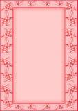 花框架粉红色树荫 免版税库存图片