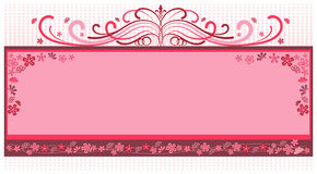 花框架粉红色 向量例证