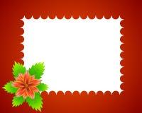 花框架红色 免版税库存照片