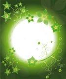 花框架绿色模式黄色 库存照片