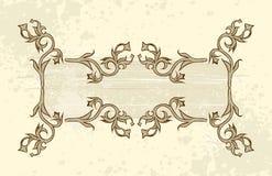 花框架葡萄酒 免版税图库摄影