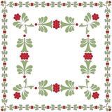 花框架绿色红色 免版税图库摄影