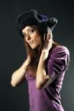 花梢帽子俄语妇女 免版税库存照片