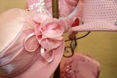 花梢帽子粉红色 免版税库存照片