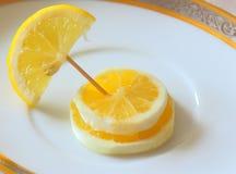 花梢柠檬,三片式。 免版税库存图片