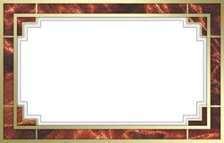 花梢框架金照片红色 免版税库存照片