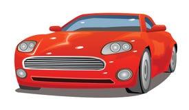 花梢红色汽车例证 皇族释放例证