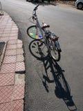 花梢自行车 库存图片