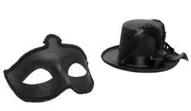 花梢面具和帽子 库存图片