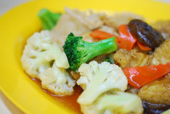 花椰菜中国蘑菇样式 库存图片