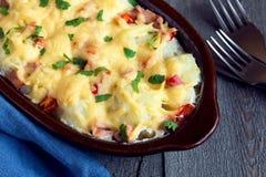 花椰菜和乳酪焦干酪 免版税库存图片