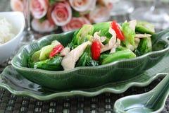 花椰菜油煎的混乱蔬菜 免版税库存照片