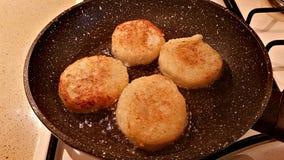 从花椰菜的可口炸肉排 库存照片