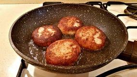 从花椰菜的可口炸肉排 库存图片