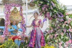 花狂欢节在尼斯,法国 免版税库存照片