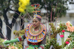 花狂欢节在尼斯,法国 免版税库存图片