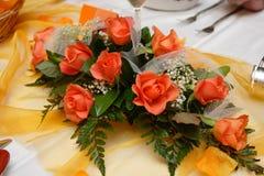 花玫瑰色婚礼 图库摄影
