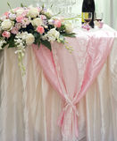 花玫瑰色婚礼 库存照片